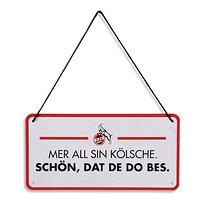 """Blechschild """"Mer all sin Kölsche"""" 10x20 cm (1)"""