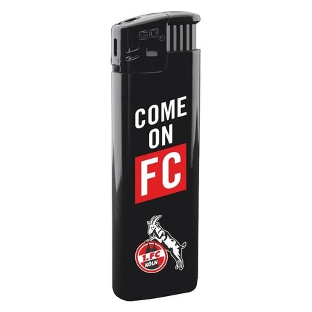 "Feuerzeug ""Come on FC"", schwarz"