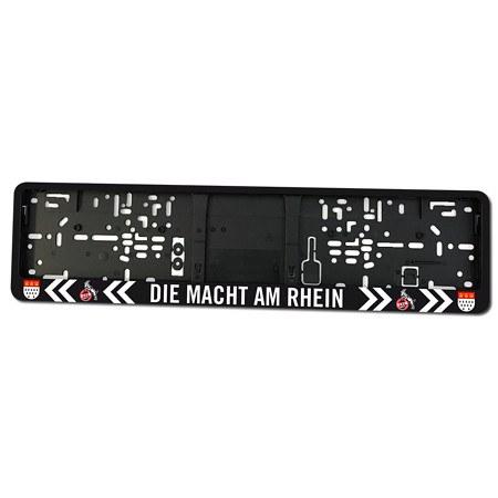 """Nummernschildhalter """"Die Macht am Rhein"""""""