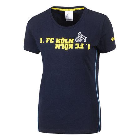 Freizeitshirt Damen blau/gelb