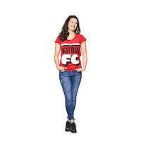 """Damen T-Shirt Mitglieder rot """"Ich Bin"""" (10)"""