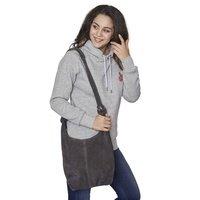 Wildleder- Shopper Handtasche (9)