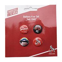 """Buttons 4-er Set """"Seit 1948"""" (2)"""