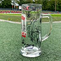 """Signierter Bierkrug """"Rut un Wiess"""" (2)"""