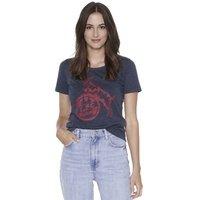 "Damen T-Shirt ""Basic navy rot"" (2)"