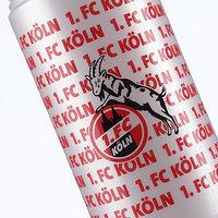 Trinkflasche weiß Schriftzug 1. FC Köln (3)