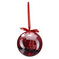 Weihnachtskugel Skyline rot (2)