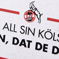 """Blechschild """"Mer all sin Kölsche"""" 10x20 cm (2)"""
