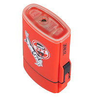 Feuerzeug Rubber rot (4)